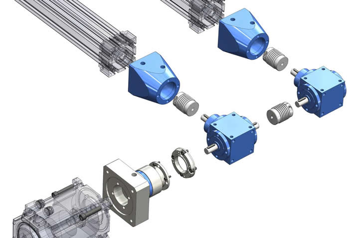 Spiral Bevel Gearbox Coupling Assembly