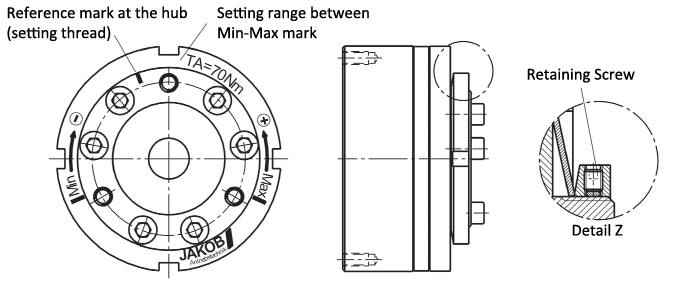 Safety Couplings SKG SKY SKW Series | Adjusting Disengagement Torque